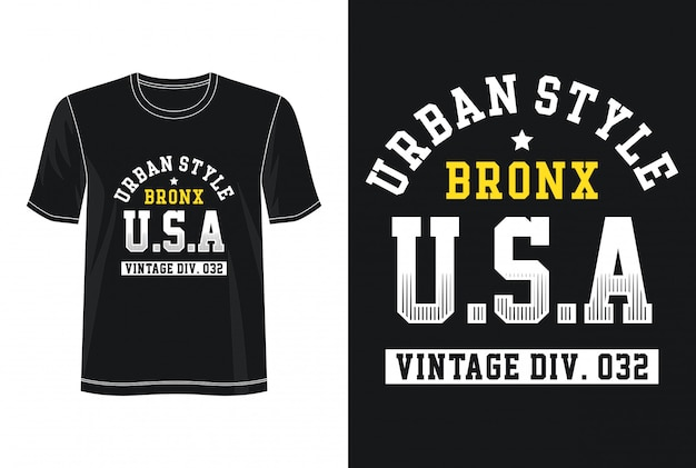 Urban style typography for print t shirt