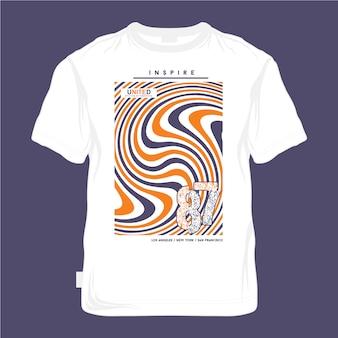 Urban t-shirt design koele kleur