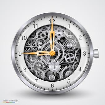 Uren van versnellingen. kunst spleet. vector illustratie