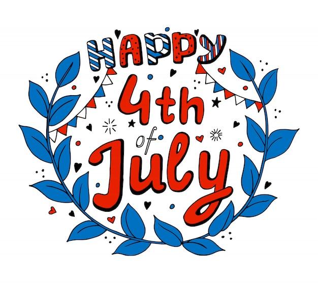 Usa 4 juli onafhankelijkheidsdag. geïsoleerd
