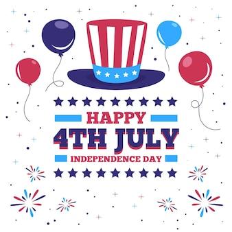 Usa 4 juli president hoge hoed