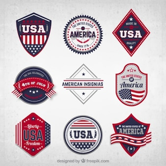 Usa badges collectie