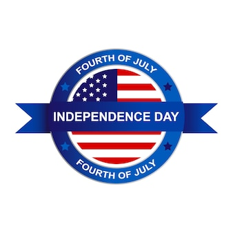 Usa independence day fourth of july symbool logo. vectorillustratie eps 10
