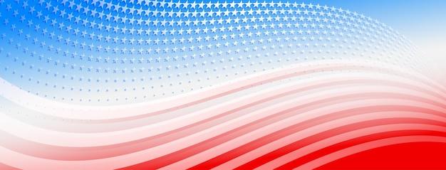 Usa onafhankelijkheidsdag abstracte achtergrond met elementen van de amerikaanse vlag in rode en blauwe kleuren
