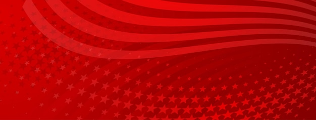 Usa onafhankelijkheidsdag abstracte achtergrond met elementen van de amerikaanse vlag in rode kleuren