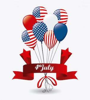 Usa ontwerp. onafhankelijkheidsdag 4 juli