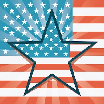 Usa ontwerp over vlag achtergrond vectorillustratie