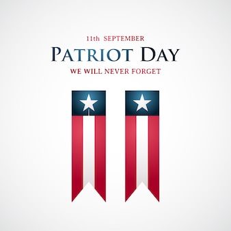 Usa patriot day achtergrond.