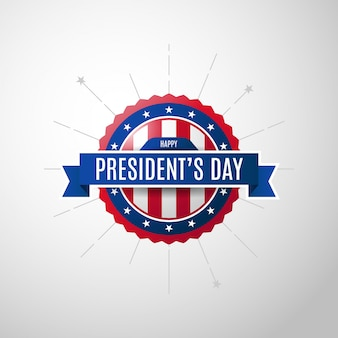 Usa president's day achtergrond met badge