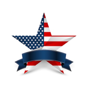 Usa ster in nationale kleuren van amerika. onafhankelijkheidsdag.