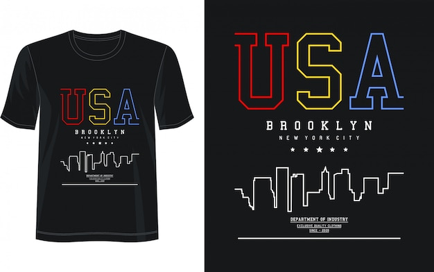 Usa typografie voor print t-shirt