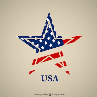 Usa vlag ster vector