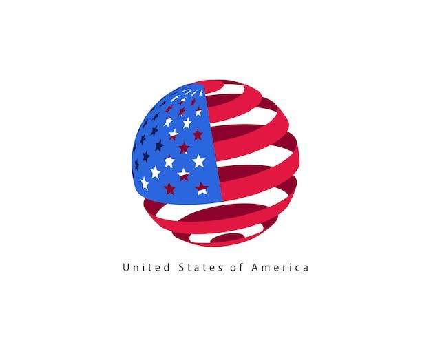 Usa vlag stijl vector design element. logo sjabloon verenigde staten van amerika.