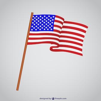 Usa vlag vector illustratie
