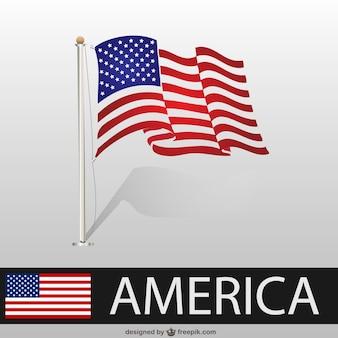 Usa vlag vector sjabloon