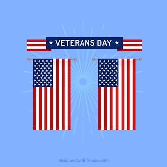 Usa vlag veteranen dag labels