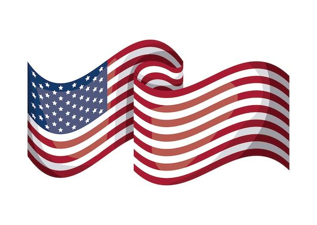 Usa vlagpictogram