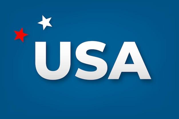 Usa woord typografie bericht