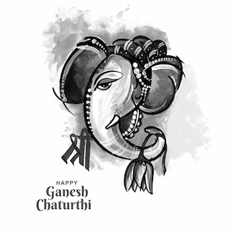 Utsavganesh chaturthi festival kaart achtergrond