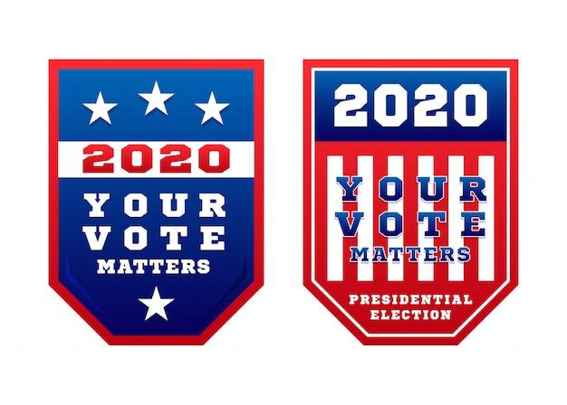 Uw stem is belangrijk voor de presidentsverkiezingen van de verenigde staten van amerika in november voor democratische of republikeinse kandidaten.