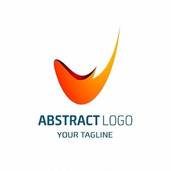 V brief abstract logo
