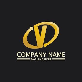 V letter logo template vector pictogram illustratie