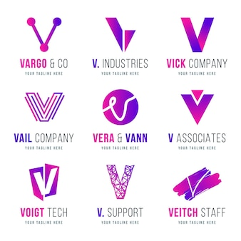 V logo collectie