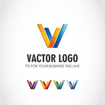 V logo ontwerp