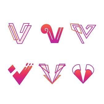 V-logo sjabloonpakket