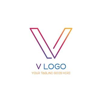 V logo