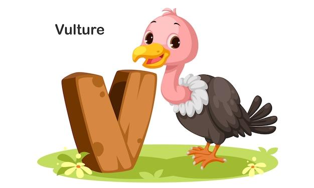 V voor vulture