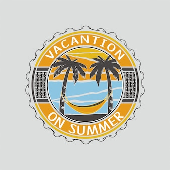 Vacantion op zomerillustratie