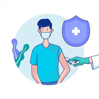 Vaccin concept illustratie