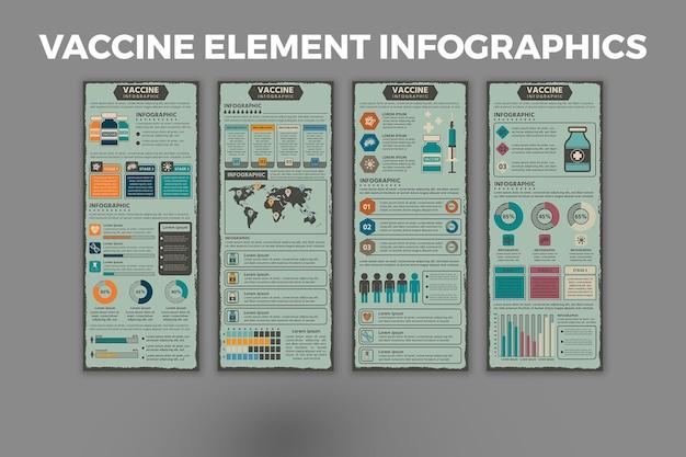 Vaccin element infographic ontwerpsjabloon