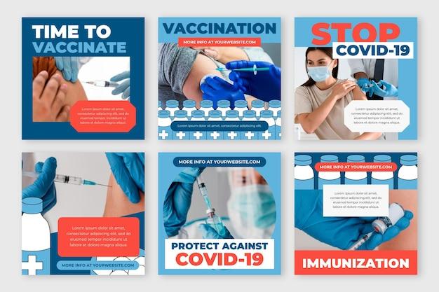 Vaccin instagram postpakket met foto's