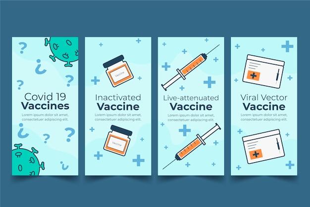 Vaccin instagram verhalencollectie met foto's