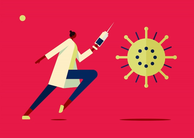 Vaccin virus illustratie