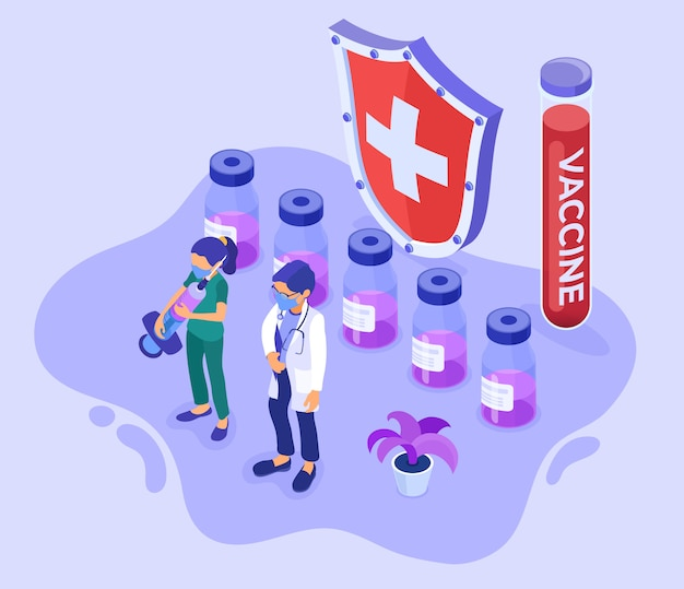 Vaccinatie concept illustratie