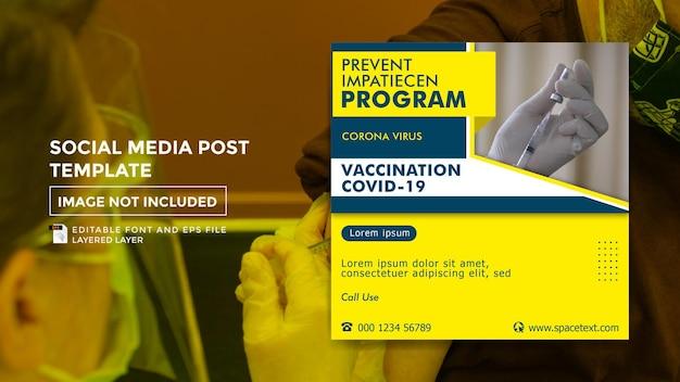 Vaccinatie thema social media postsjabloon