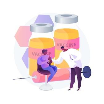 Vaccinatie van jonge tieners en tieners abstract concept vectorillustratie. oudere kinderen immunisatie, vaccinatie van tieners en jonge tieners, voorkomen dat kinderen abstracte metafoor voor besmettelijke ziekten.