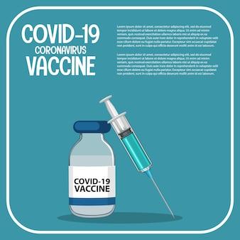 Vaccinonderzoek en -ontwikkeling voor covid-19 of coronavirus-poster of banner