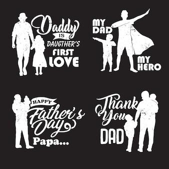 Vader en kind silhouet