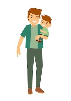 Vader en zoon liefhebbende familie spelen