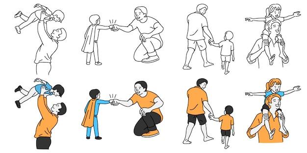 Vader geniet van geluk met kind