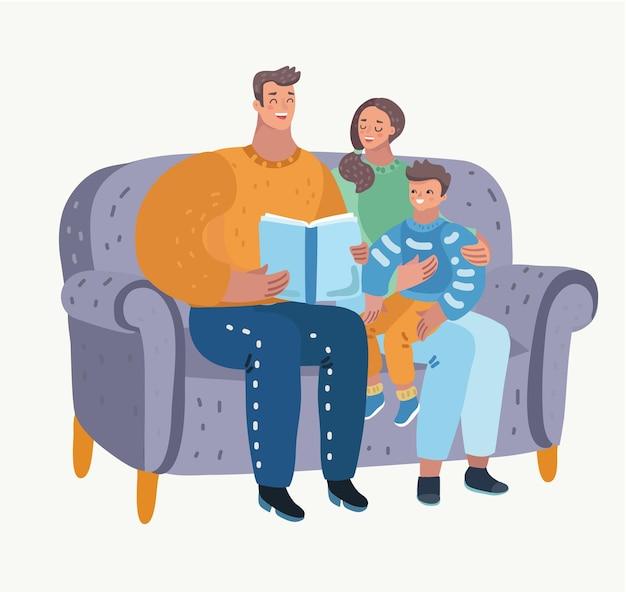 Vader leest een sprookje voor