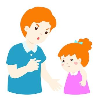 Vader scheldt zijn dochter uit