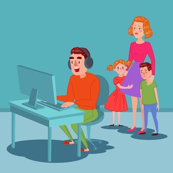 Vader spelen op videogames