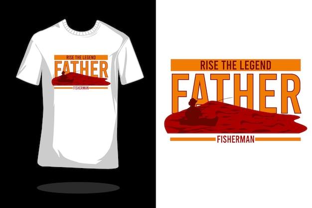 Vader visser silhouet t-shirt ontwerp