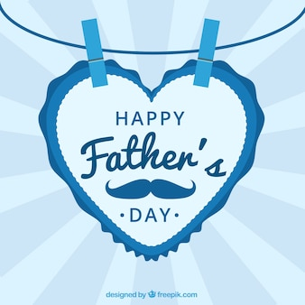 Vaderdag achtergrond met een hartvormige brief