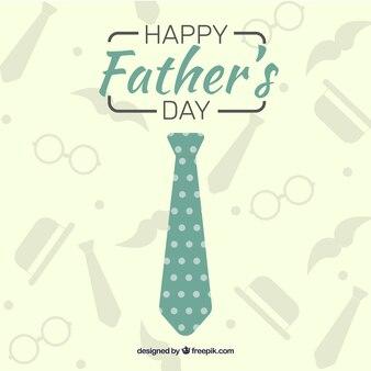 Vaderdag achtergrond met groene stropdas